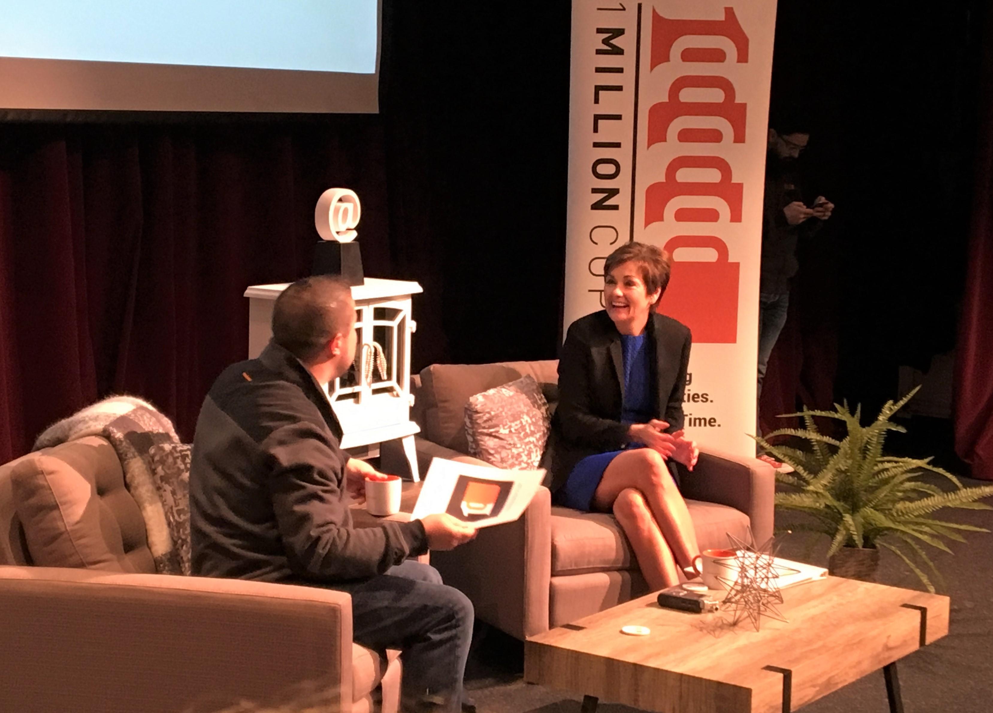 "Gov. Kim Reynolds to 1 Million Cups: ""Build on positives"" and STEM education for workforce"