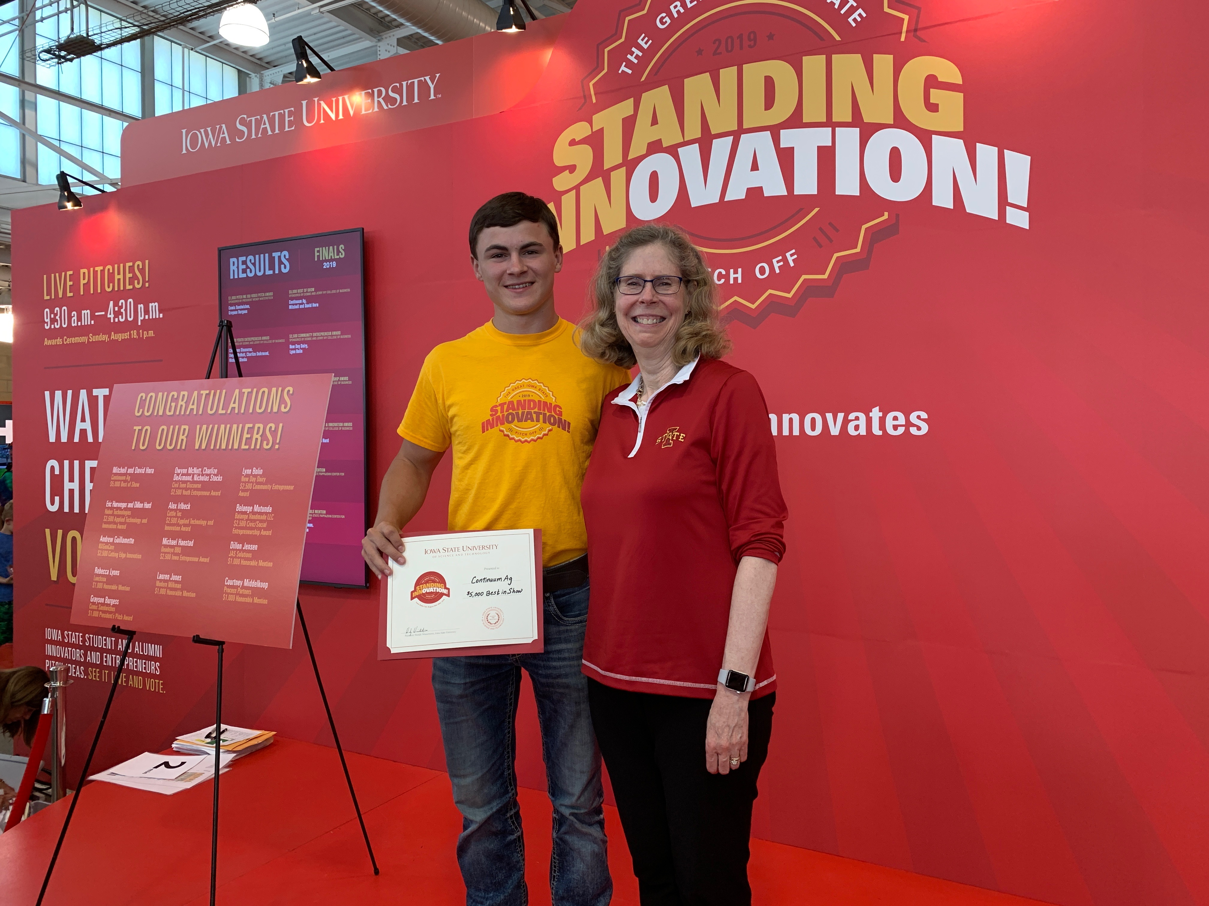 "ISU's Iowa State Fair pitch-off names Continuum Ag ""Best of Show"""