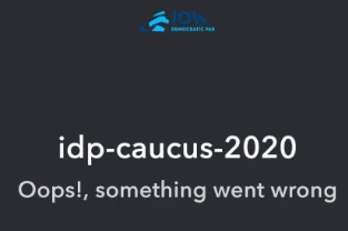 What happened with the 2020 caucus IowaReporterApp?