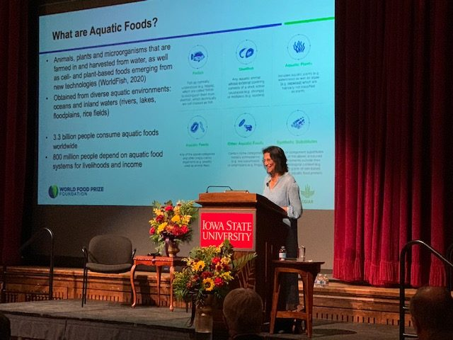 World Food Prize laureate presents Norman Borlaug lecture: 'Aquatic Foods for Nourishing Nations'